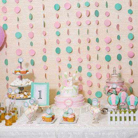 Фотозона День рождения в мятно-розовых оттенках 🍧 🍨 аренда в Киеве