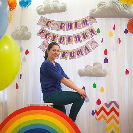 Фотозона 🌈 Радуга на детский день рождения для Никиты 🍭 аренда в Киеве