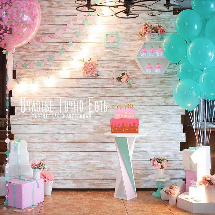 Фотозона 🌸 Фотозона для девочки в розово-мятном цвете «Нежность для принцессы» 🌸 аренда в Киеве