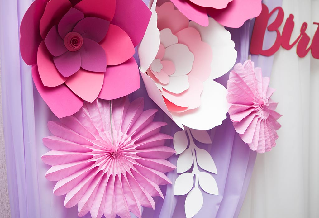 питания картинки украшения зала бумажными цветами вихре