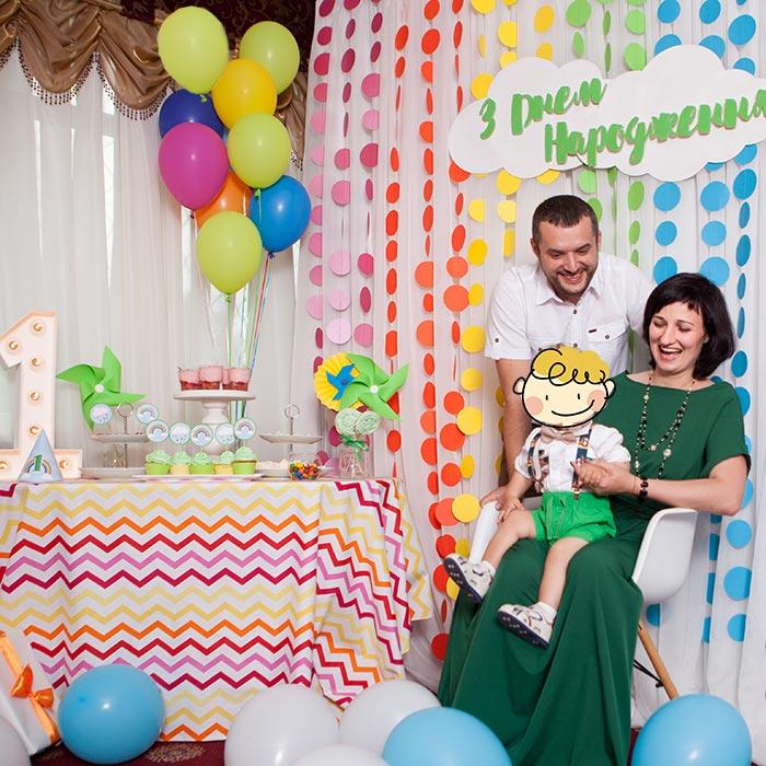 Фотозона 🌈 Детская фотозона «Радуга» на годик для мальчика 🎈 аренда в Киеве