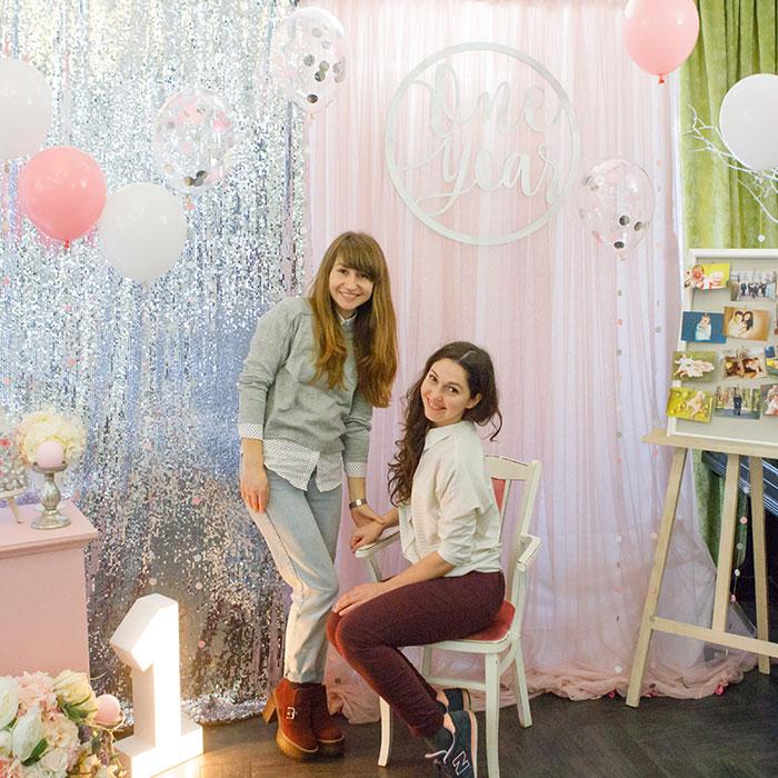 Фотозона 🎀 Фотозона на день рождения девочки Серебро с Розовым 🎀 аренда в Киеве
