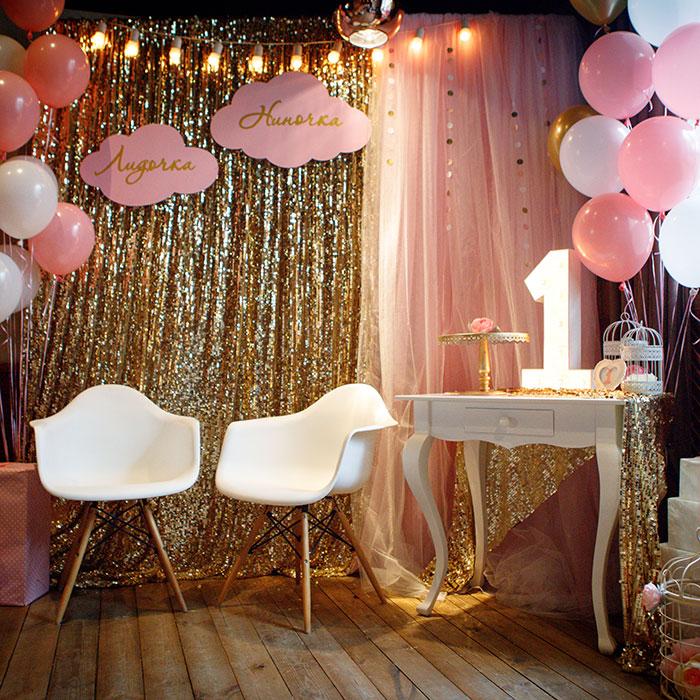 Фотозона 🎂 Фотозона на день рождения девочек-двойняшек 🍨 аренда в Киеве