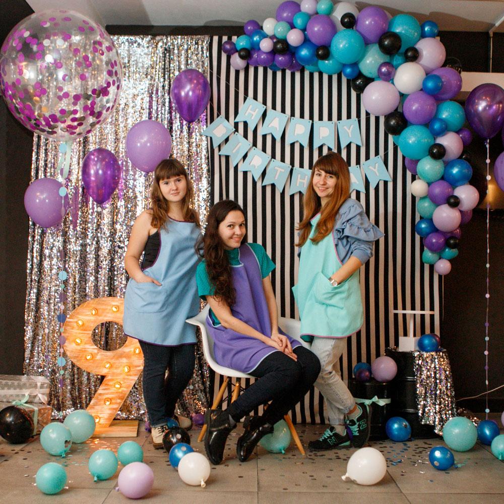 Фотозона 🎀 Синяя с серебром фотозона на детский день рождения в ресторане «Принада» 🎁 аренда в Киеве