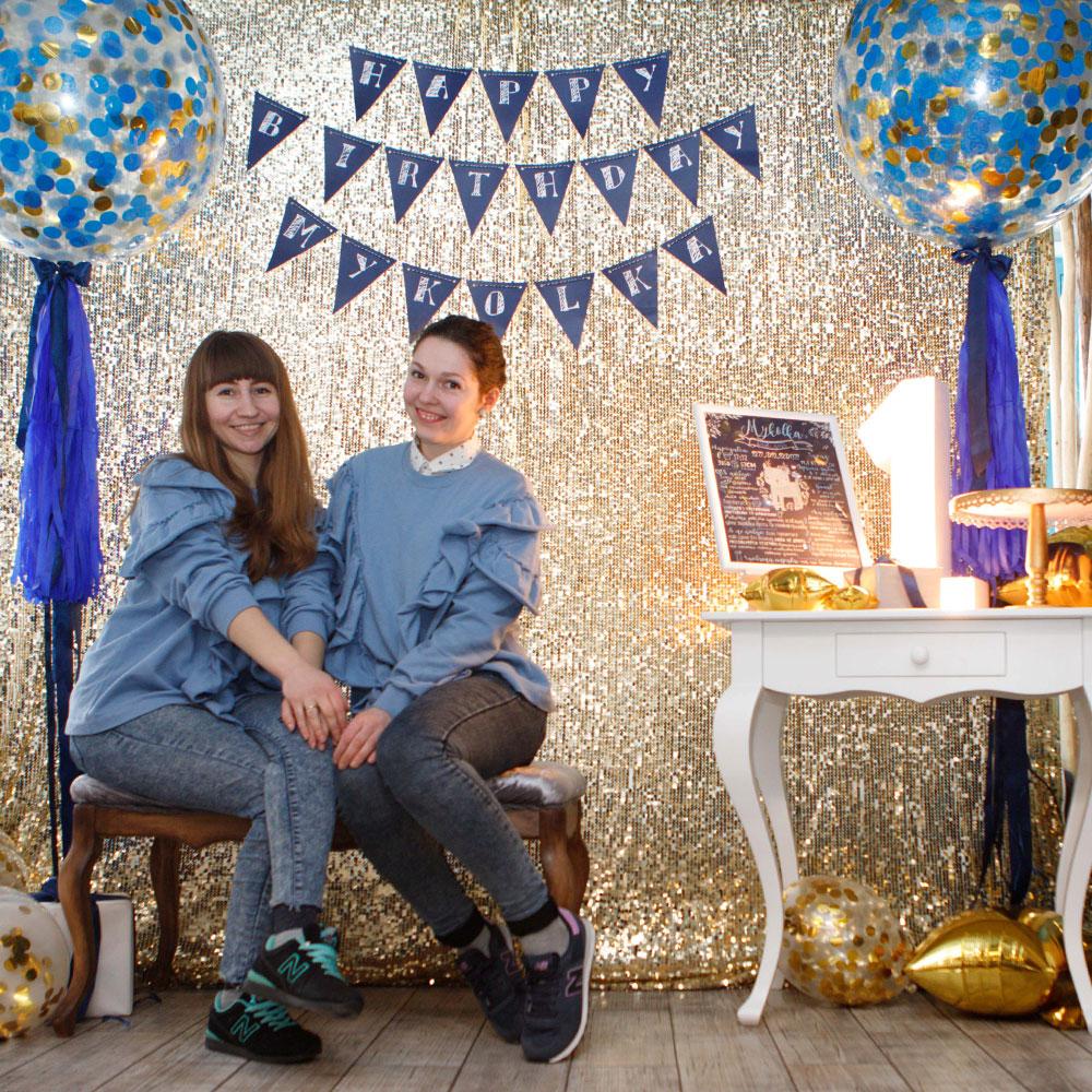 Фотозона 🎉 Оформление первого дня рождения мальчика в ресторане «Моменты» 🎂 аренда в Киеве