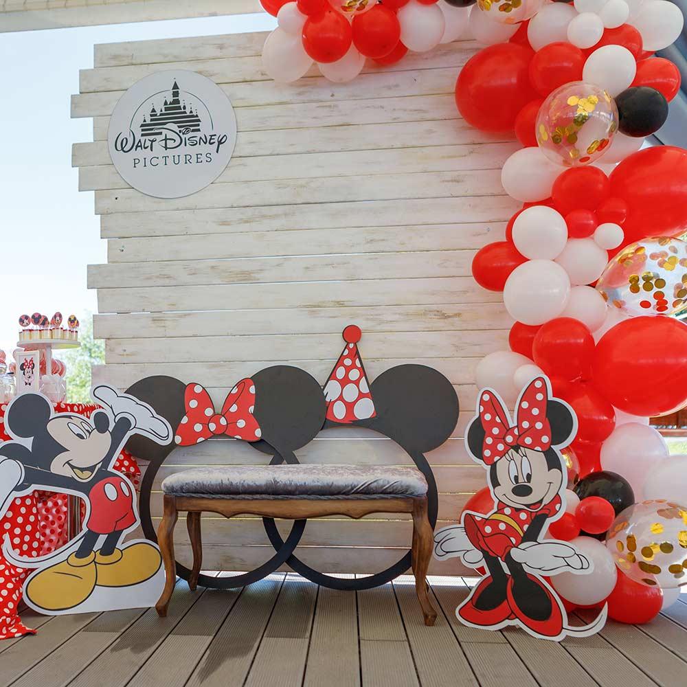 Фотозона 🍰Детская фотозона Микки и Минни Маус в семейном парке🌅 Sky Family Park 🐭 аренда в Киеве