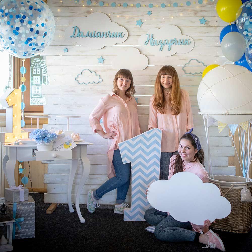 Фотозона 🍰🎂 Украшение праздничной фотозоны на годик двойняшкам 🍭 🍬 аренда в Киеве