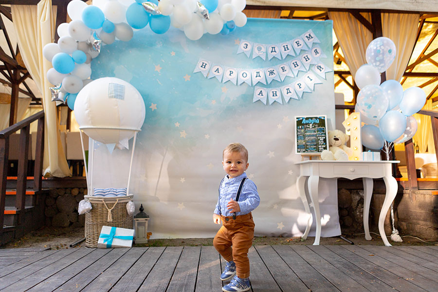 Фотозона 🎁Детская фотозона на годик мальчику «Воздушный шар»🧸 аренда в Киеве
