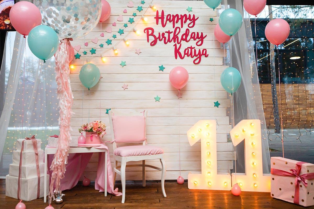 Фотозона Розово-мятная фотозона на день рождения девочке🎁 🎈 аренда в Киеве