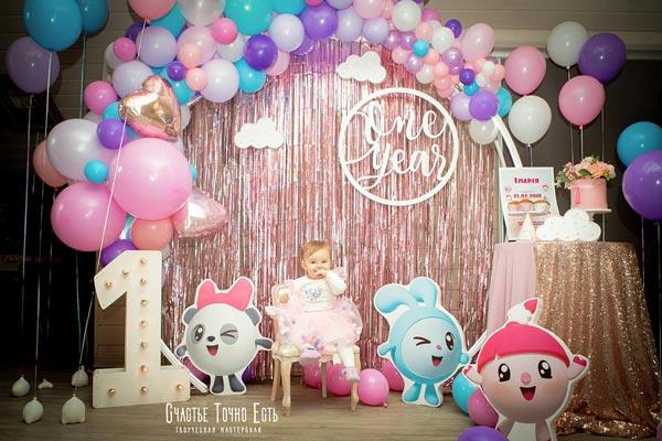 Фотозона 🎁 🎈  Фотозона Малышарики на годик девочке 🎏 🎀 🎊 🎉 аренда в Киеве