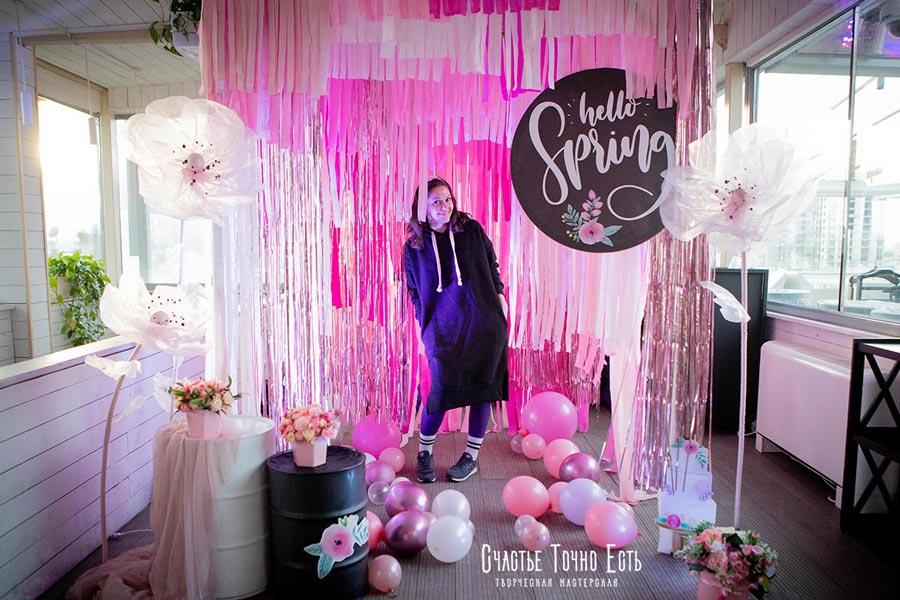 Фотозона 🌸 Объемная 3D фотозона для девичьего праздника на террасе ресторана Авалон 🌸 аренда в Киеве