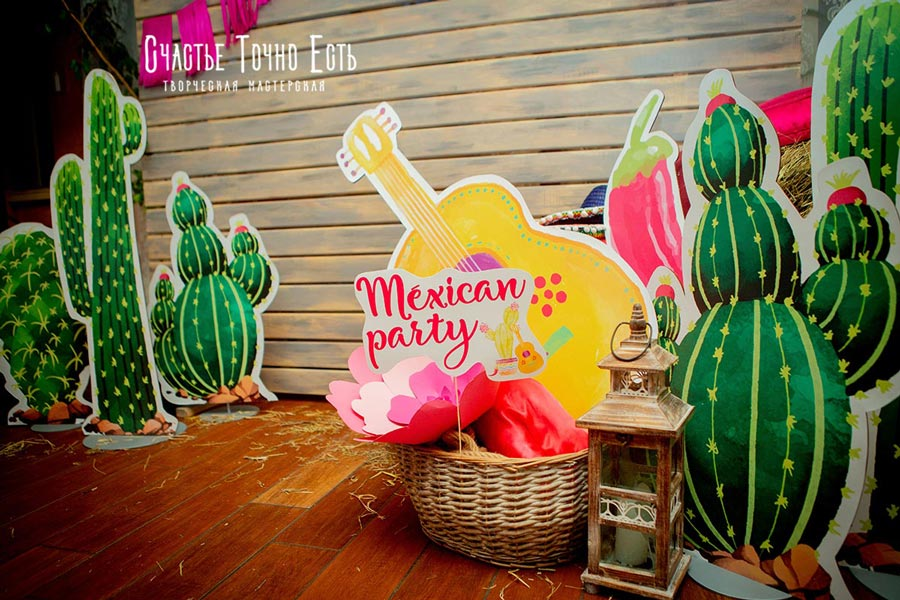 Фотозона Мексиканская вечеринка 🌵 на детский день рождения 🌸 аренда в Киеве