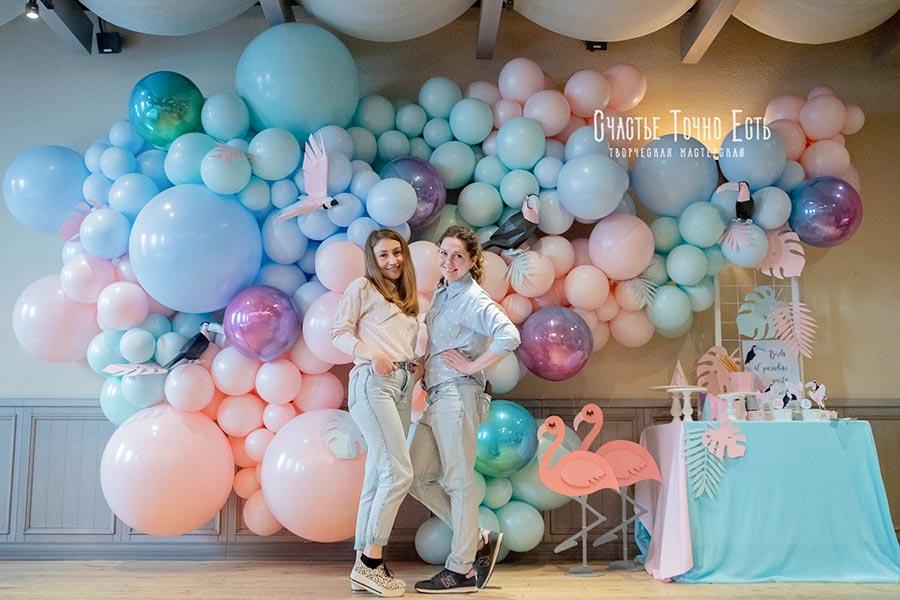 Фотозона 🎈Фотозона из шаров в стиле 🏝 Тропики 🦜 и Геометрия аренда в Киеве