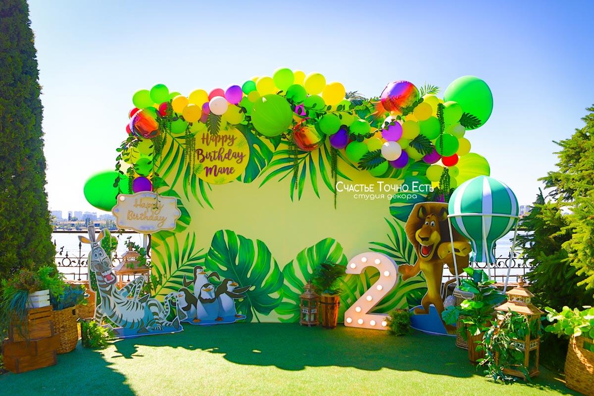 Фотозона Фотозона в стиле тропики из мультика Мадагаскар аренда в Киеве