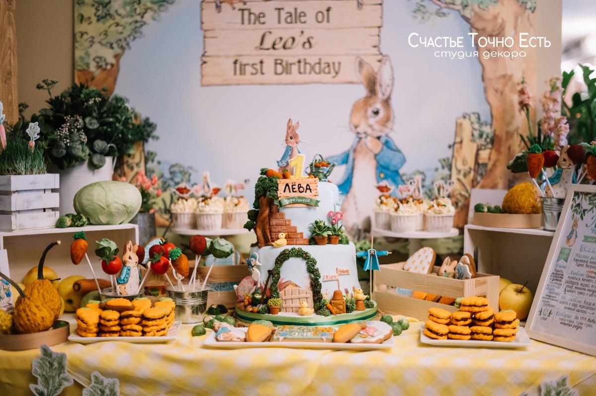 Фотозона Фотозона и кенди бар в стиле кролик Питер аренда в Киеве