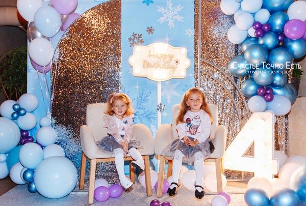 Фотозона ❄️ Фотозона для двойняшек Frozen 👧👧 аренда в Киеве