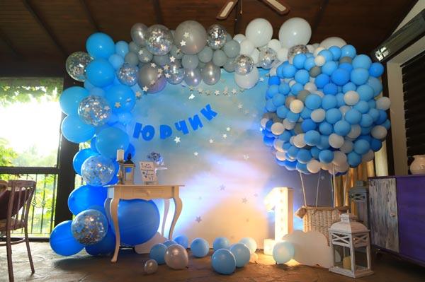 Фотозона Фотозона на годик мальчику с 🎁 Воздушным шаром 🎈 аренда в Киеве